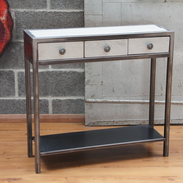 Console metal meuble console table console design meuble metal - Made design mobilier ...