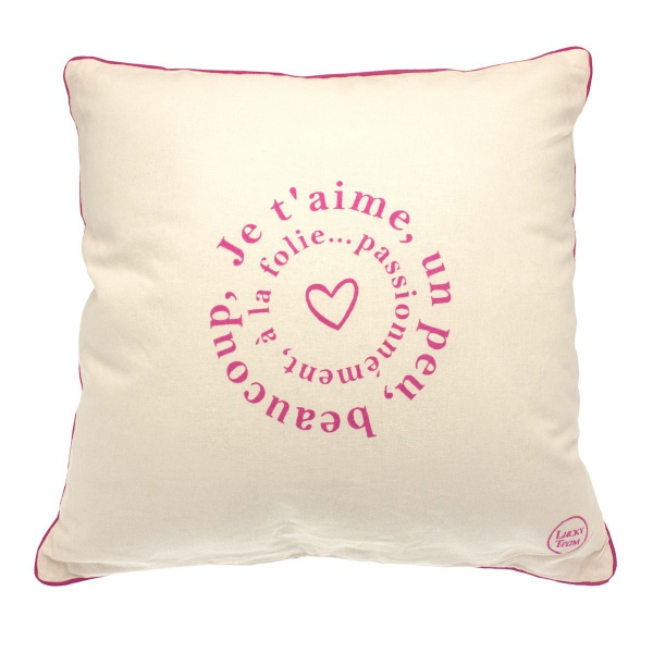 Coussin imprime amour