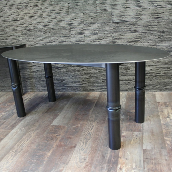 Table salle manger m tal brut table salle manger for Table a manger metal