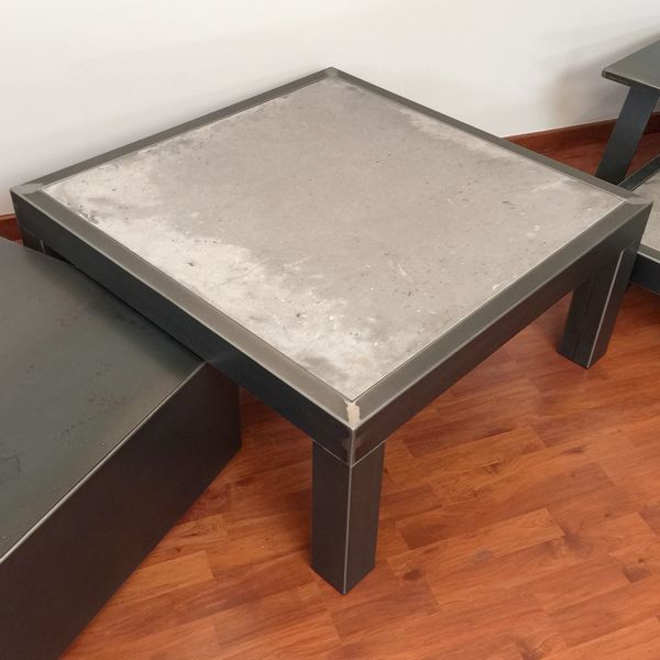Table basse carr e beton z table basse design table - Table basse rectangulaire design ...