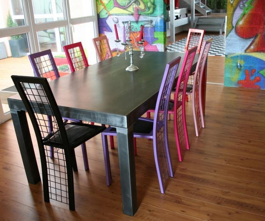 Table-repas--design-metal-loft