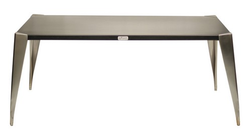Bureau m tal pied inox meuble m tal for Meuble bureau metal