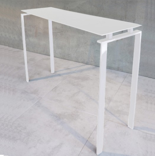 console m tal rectangulaire blanche console design. Black Bedroom Furniture Sets. Home Design Ideas