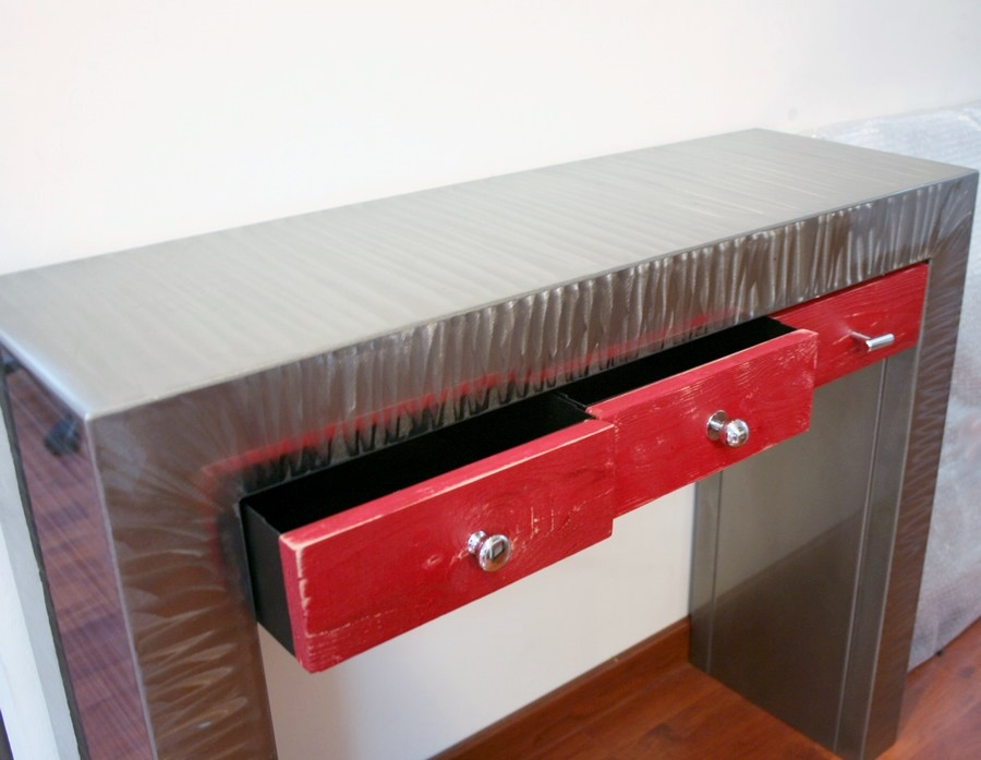console-meuble-metal