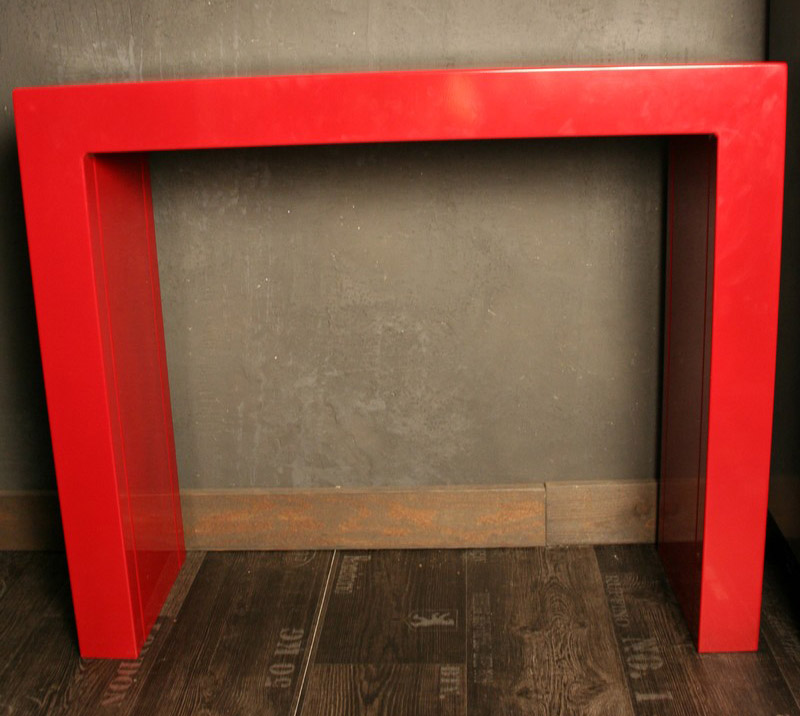 console m tal rouge mobilier industriel. Black Bedroom Furniture Sets. Home Design Ideas