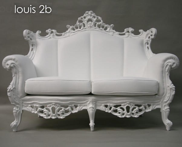 fauteuil baroque double blanc pieter jamart fauteuil design. Black Bedroom Furniture Sets. Home Design Ideas