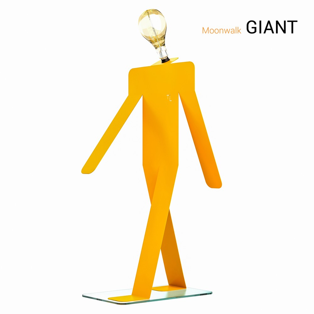 lampadaire moonwalk giant orange 4772