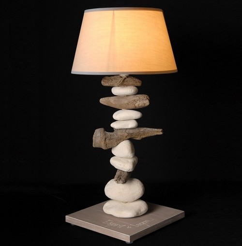 lampe-table-design-bois-flotte