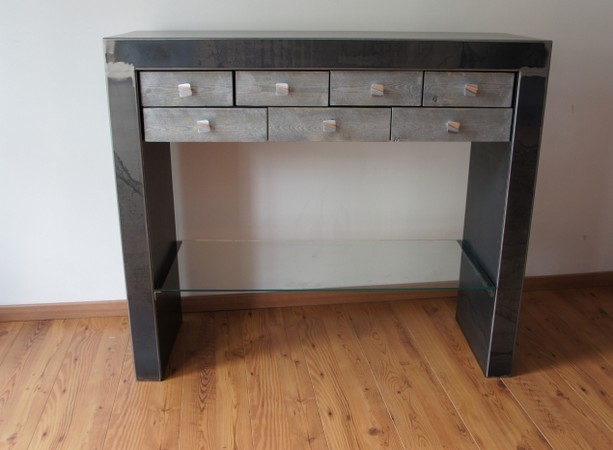 Console metal contemporaine meuble Console console design