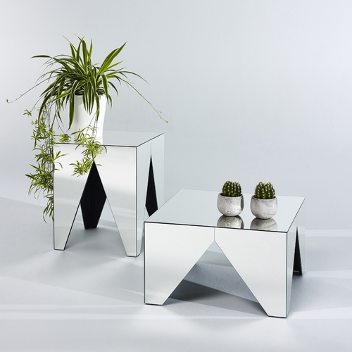 table basse en miroir moderne