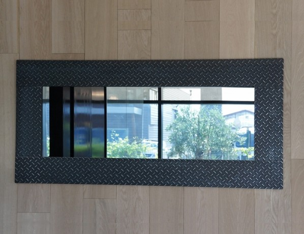 Miroir m tal miroir design d co loft for Miroir horizontal