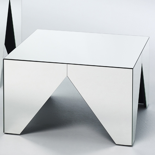 table basse en miroir