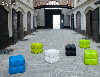 pouf design sixinch bench