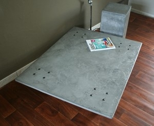 table basse beton