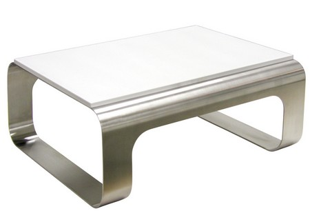 petite table basse inox table basse design. Black Bedroom Furniture Sets. Home Design Ideas