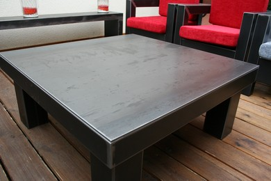 table métal design