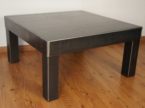 table metal brut