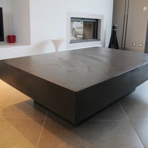 table basse b ton gris clair table basse b ton table. Black Bedroom Furniture Sets. Home Design Ideas