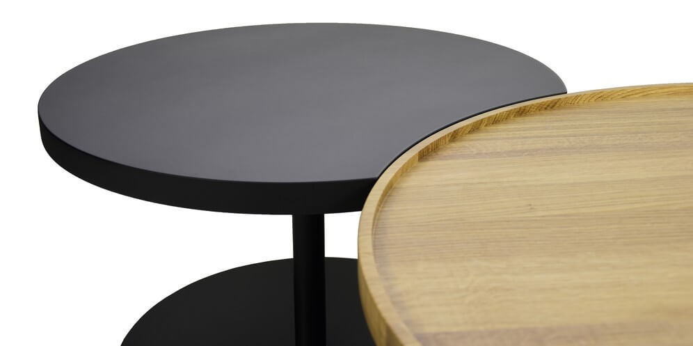 table basse bois double