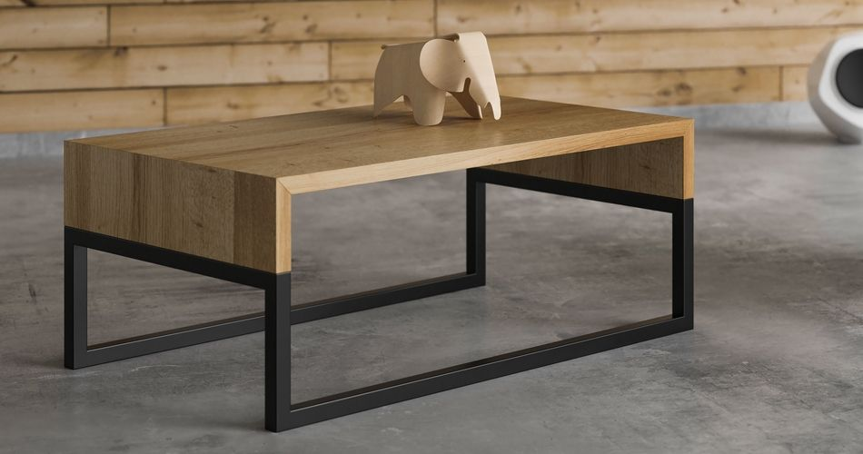 Table basse design scandinave, design loft et décoration minimaliste