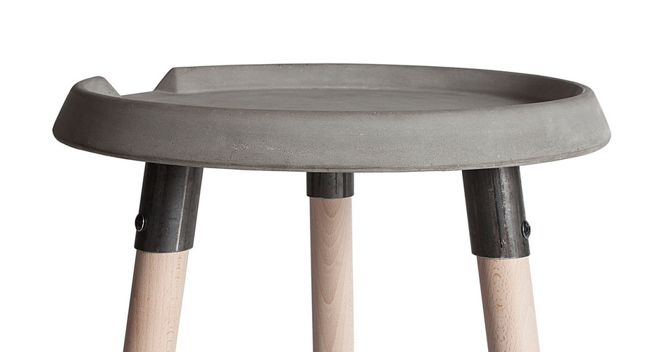 table basse design en béton