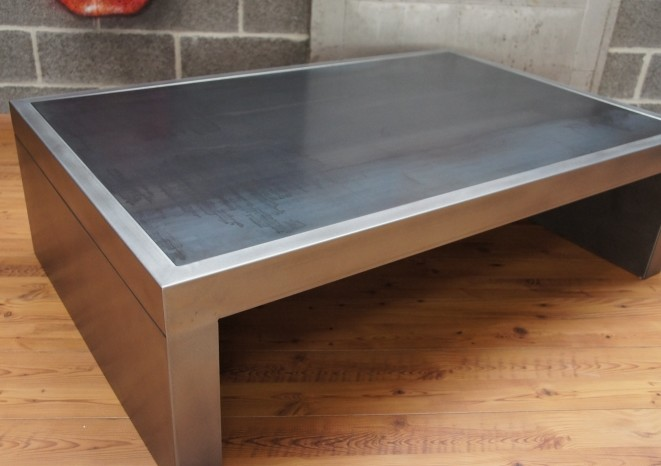 Table basse industrielle table metal table basse design - Table salon metal ...