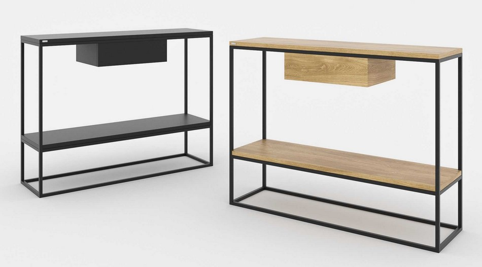 table-console-design-metal-bois
