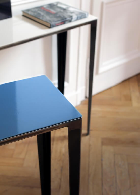 table-console-design-metal-personnalisee