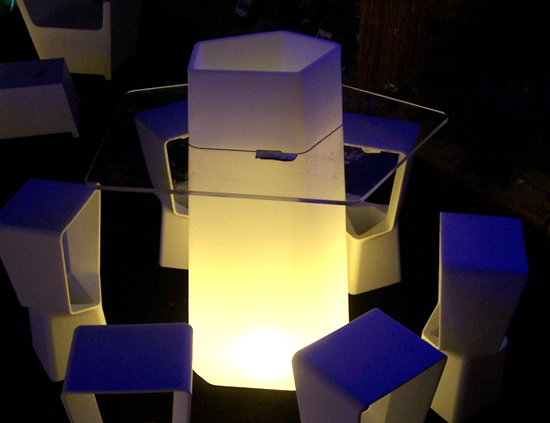 table-lumineuse-design