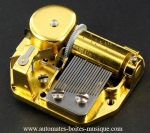 Musical mechanisms for music boxes or musical jewelry boxes