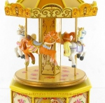 Musical miniature carousels
