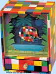 Trousselier music boxes with Elmer the patchwork elephant