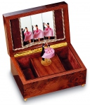 Reuge musical jewelry boxes with dancing dolls