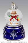 Musical snow globes for Christmas trees