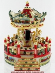 Christmas musical miniature carousels