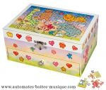 Puzzle musical jewelry boxes