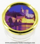 Paperweight music boxes : towns of France