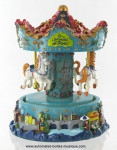Miniature musical carousels of all countries