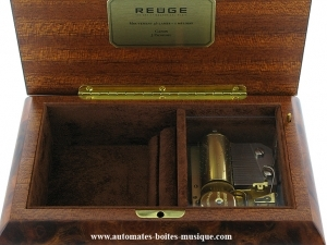 Reuge musical jewelry box made in Switzerland with traditional 36 note musical mechanism - Item # for this Reuge musical jewelry box : AXA.36.5134.000