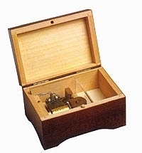Swiss music box made of wood with traditional 18 note musical mechanism - Item # for this swiss music box : 2034401