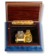 Lutèce Créations music box made of maple wood with musical instruments inlay and traditional 18 note musical mechanism - Item # for this Lutèce Créations music box : IM.18.4002