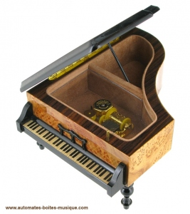 Miniature musical instrument made of wood with traditional 18 note musical mechanism - Item # for this miniature musical instrument : 8293