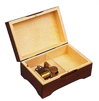 Swiss music box made of wood with traditional 18 note musical mechanism - Item # for this swiss music box : 2091701
