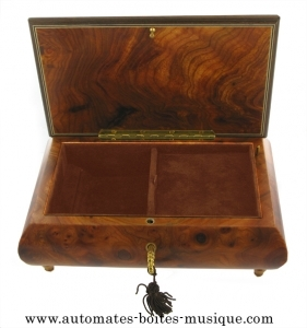 Musical jewelry box made of wood with traditional 18 note musical mechanism - Item # for this musical jewelry box: 85511