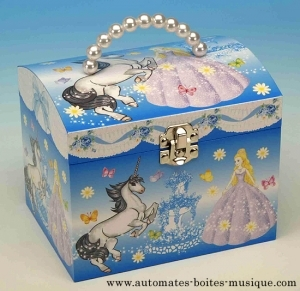 Musical jewelry box made of wood with dancing ballerina and traditional 18 note musical mechanism - Item # for this musical jewelry box : 22084