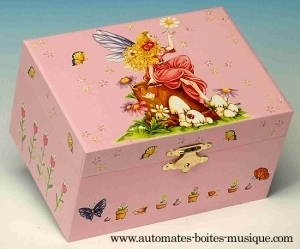 Musical jewelry box with dancing fairy and traditional 18 note musical mechanism - Item # for this musical jewelry box with dancing fairy: 22045