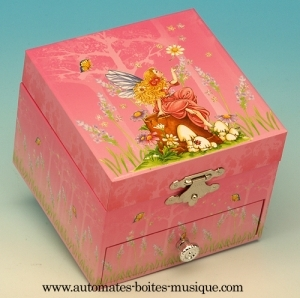Musical jewelry box with dancing fairy and traditional 18 note musical mechanism - Item # for this musical jewelry box with dancing fairy: 22093