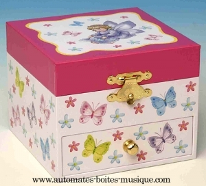Musical jewelry box with dancing fairy and traditional 18 note musical mechanism - Item # for this musical jewelry box with dancing fairy: 22067