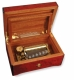 Lutèce créations music box made of mahogany wood with musical instruments inlay and traditional 50 note musical mechanism - Item # for this Lutèce Créations music box : IM.50.02