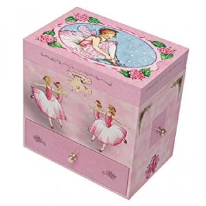 Enchantmints musical jewelry box with secret compartments and traditional 18 note musical mechanism - Item # for this Enchantmints musical jewelry box: 10-18
